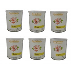 TOPAZ - Lot de 6 pots de 800 ml de cire à épiler tiède