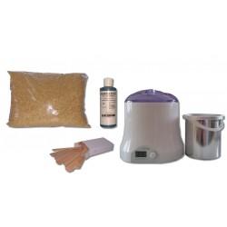 Cid Epil. Kit épilation 800 ml - Cire Traditionnelle Jaune 1 kg Perles