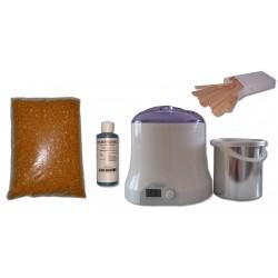 Cid Epil. Kit épilation 800ml - Cire Pelable Blonde 1 kg Pastilles
