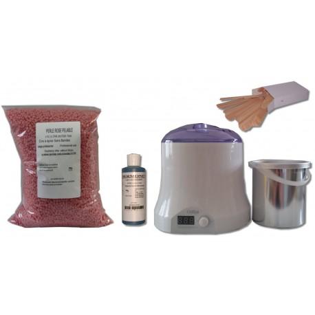 Cid Epil. Kit épilation 800 ml - Cire Pelable Rose 1 kg Perles