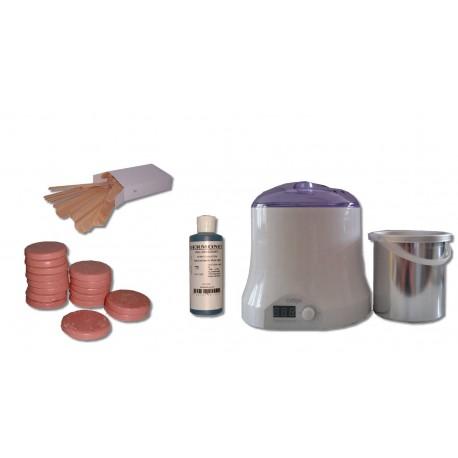 Cid Epil. Kit 800 ml - 1 kg cire à épiler pelable galets ROSE