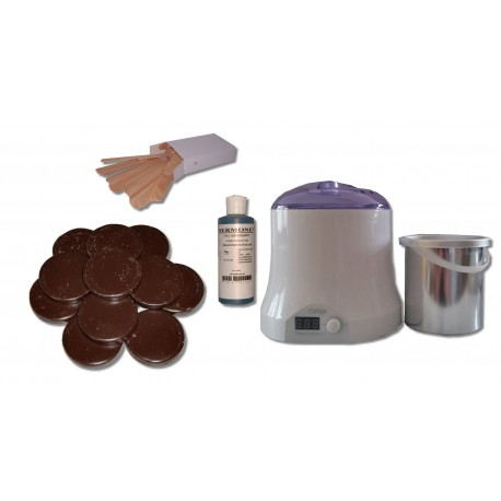 Cid Epil. Kit 800 ml - Cire à épiler Traditionnelle 1 kg Galets Chocolat