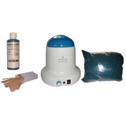 Kit épilation 800ml, Cire Pelable Outremer 1 kg Pastilles bleues