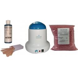 Kit épilation 800 ml - Cire Pelable Rose 1 kg Pastilles