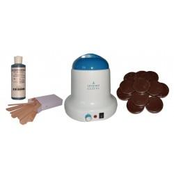 Kit épilation 800 ml - Cire à épiler Traditionnelle 1 kg Galets Chocolat
