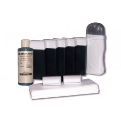 Kit d'épilation, Solo, cire AZUR, bandes lisses, huile