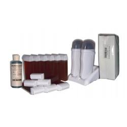 Kit épilation DUO - 12 x100 ml - Cire à épiler MIEL + 250 BANDES + HUILE