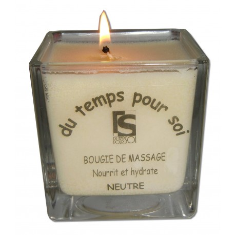Blanche - 210 g - Neutre - Bougie de massage