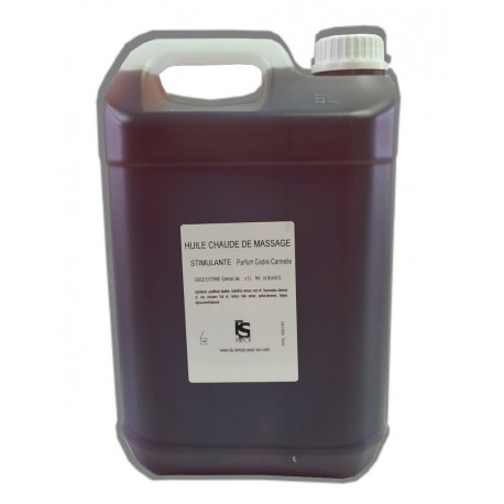 Stimulante - Cèdre Cannelle - Chaude - 5 litres - Huile de massage