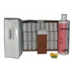 MIEL AGRUMES - Cire à épiler Roll On - 24x100 ml - Bandes, huile 500 ml