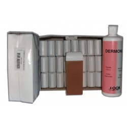 MIEL - Cire Roll On - 24 x 100 ml - Bandes, huile 500 ml